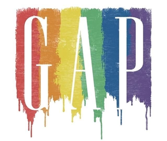 画像: 自由を抱きしめよう!GAPのロゴが期間限定でレインボーに変身