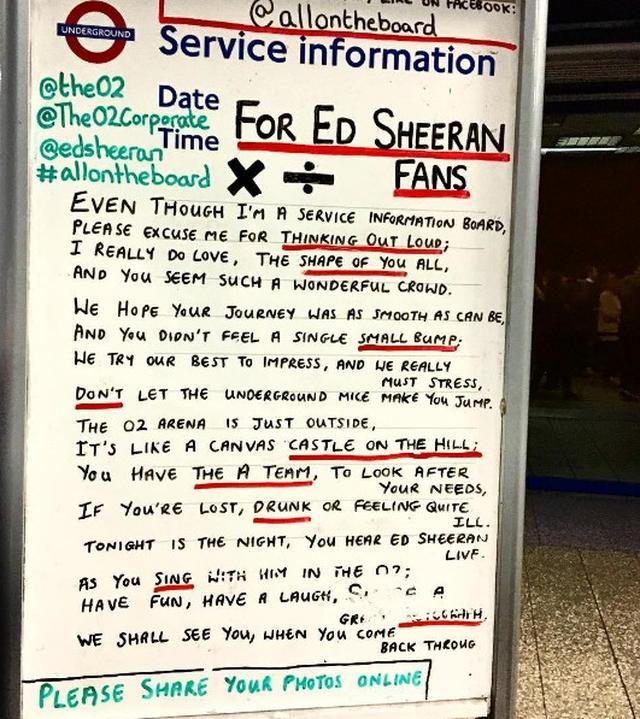 画像: エド・ファンの心をくすぐるメッセージ