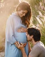 画像1: 第一子を妊娠