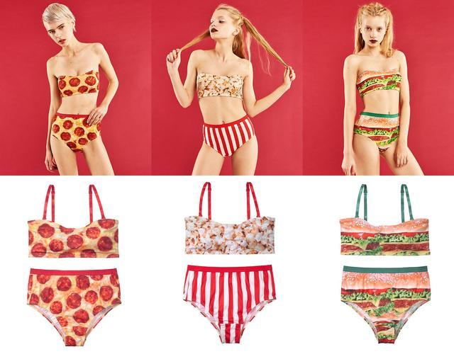 画像: YM EATチューブセット 2,980円(+税) ピザ、ポップコーン、ハンバーガー(全3色)
