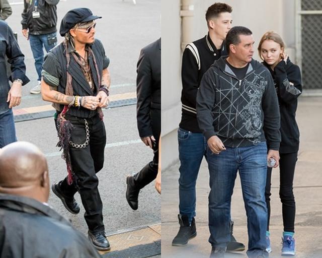 画像: ジョニーがテレビ番組に出演した時には、現場にリリー・ローズとアッシュの姿が。