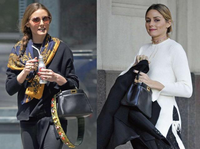 画像: 左:Fendiのバッグにデザイン・ストラップをつけて 右:ストラップ無しでシンプルに