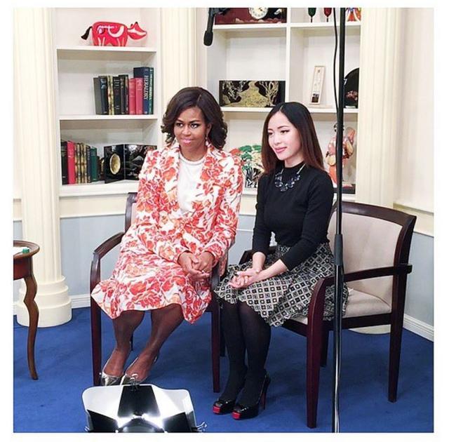 画像: オバマ元米大統領の妻ミシェルのイベントに招待されたことも。