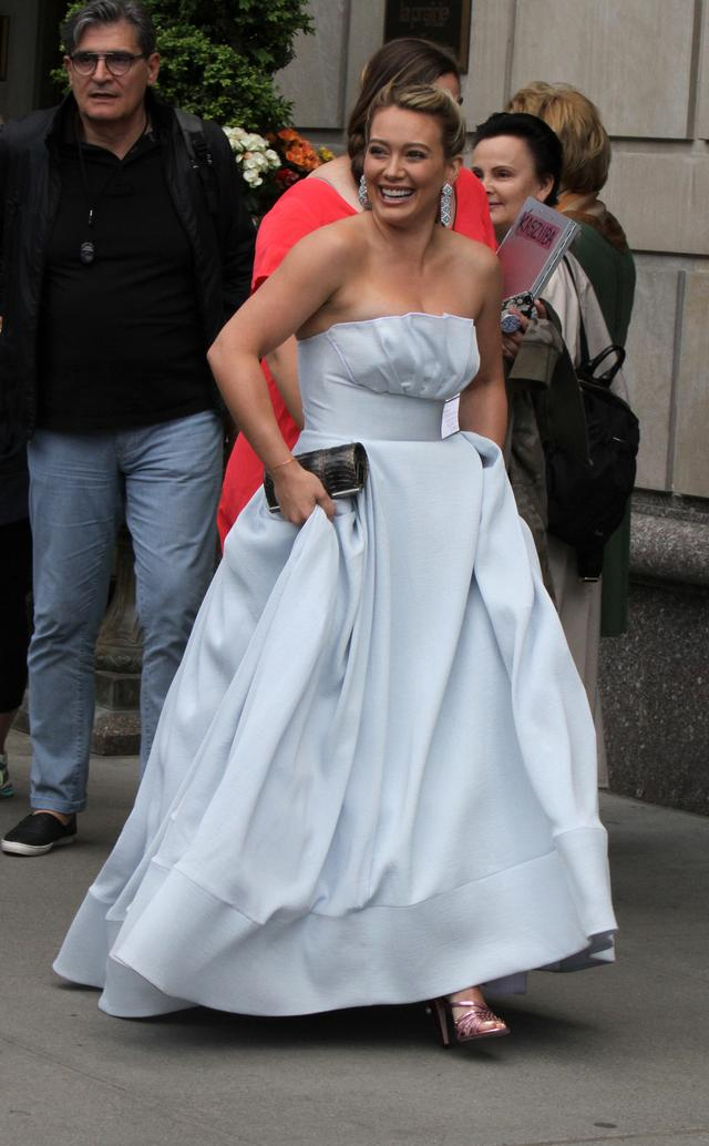 画像3: ニューヨークで撮影中のヒラリー