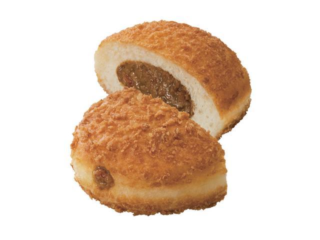 画像: パン・デ・キーマカレー(172円) まぶしたパン粉のサクサクとした食感が特徴のイースト生地に、スパイシーな辛さのキーマカレーフィリングが詰まったドーナツ。