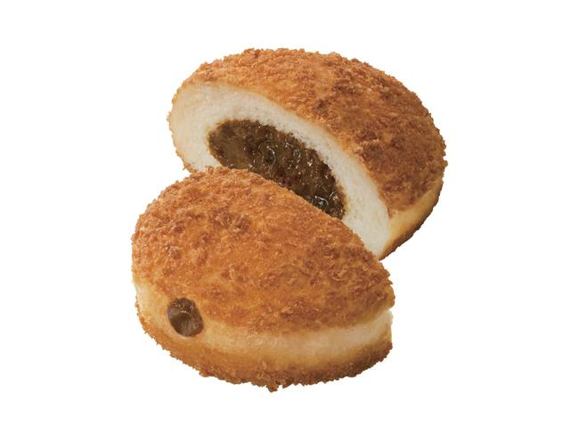 画像: パン・デ・欧風カレー(172円) まぶしたパン粉のサクサクとした食感が特徴のイースト生地に、マイルドな辛さの欧風カレーフィリングを詰めたドーナツ。