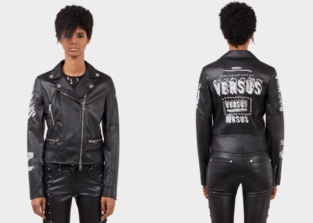 画像: エコレザー・バイカージャケット $1,475(約195,000円) www.versace.com