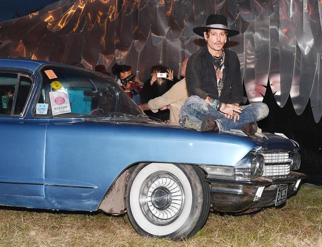 画像: グラストンベリー・フェスティバルでのジョニー。