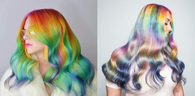 画像1: 【6月はプライド月間】米ヘアカラーリストがわき毛をレインボーカラーに染める
