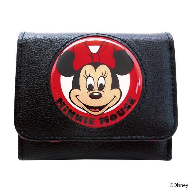 画像: 三つ折り財布(ミニーマウス)