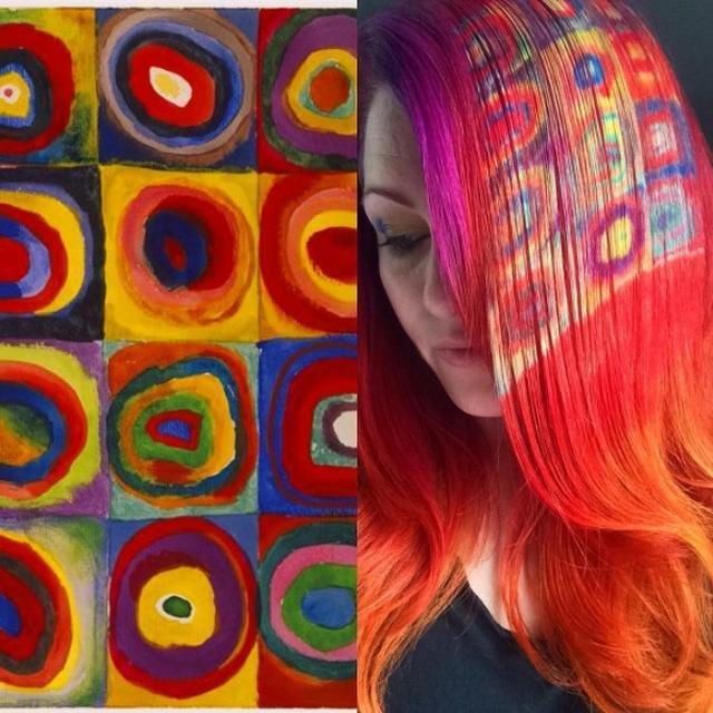 画像: ワシリー・カンディンスキーの「Color Study: Squares with Concentric Circles」