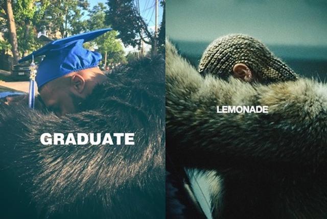 画像1: ビヨンセのアルバムジャケットを真似して、帽子にプリントする