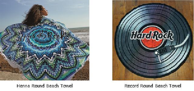 画像2: レコードのラウンド・タオル!「ハードロックカフェ」のキャンペーン