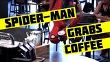 画像: Spider-Man Grabs Coffee youtu.be