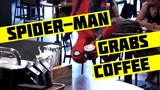 画像: Spider-Man Grabs Coffee youtu.be