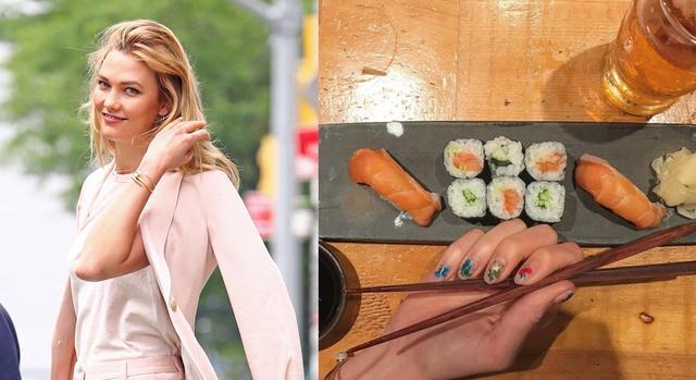 画像: つい最近来日していたモデルのカーリー・クロスも、滞在中にお寿司を堪能していた。