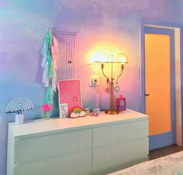 画像2: ユニコーンをテーマにした寝室