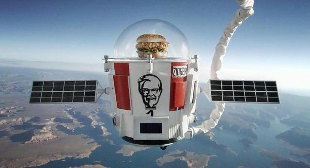 画像: KFCのバーガーが宇宙へ