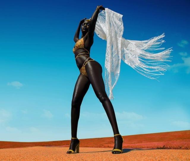 画像: スーダン出身モデル、「100万円もらって肌の色変える?」と聞かれ「黒は私の色」