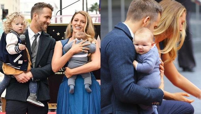 画像: 昨年末に長女のジェームズちゃんと次女のイネスちゃんを連れてイベントに出席したブレイク&ライアン。