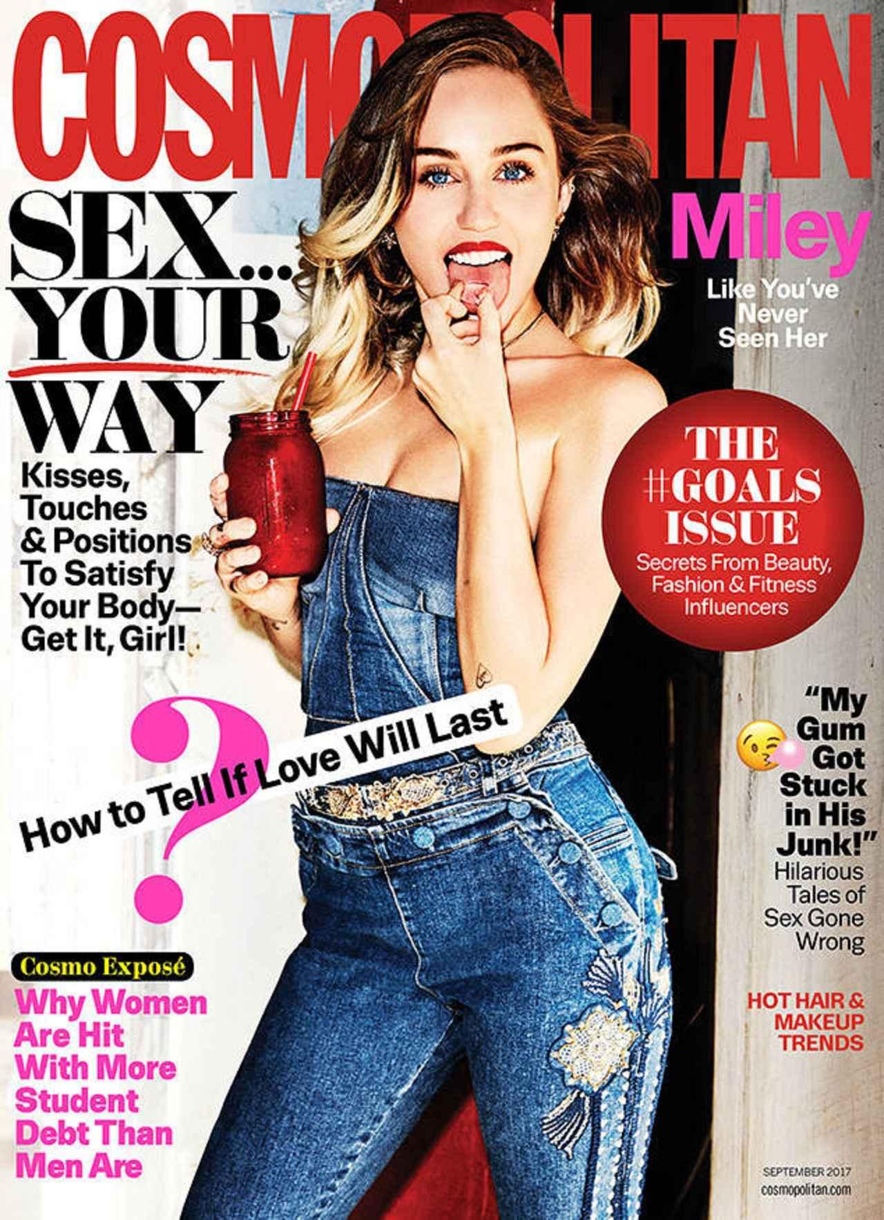 画像: マイリーが表紙を飾ったコスモポリタン誌の表紙。