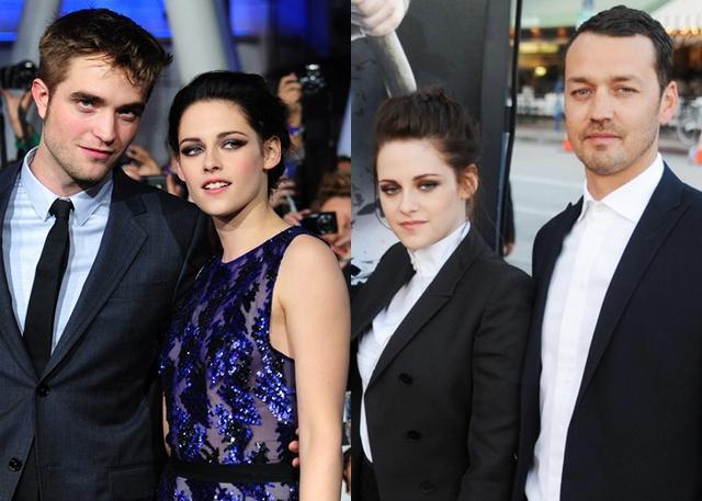 画像: 左:交際当時のクリステンとロバート。 右:当時妻子持ちだったルパートとは映画『スノーホワイト』での仕事がキッカケで恋仲に。