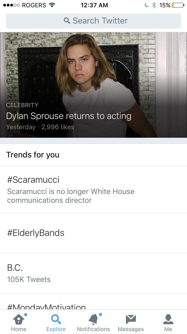 画像: Cole M. Sprouse on Twitter twitter.com