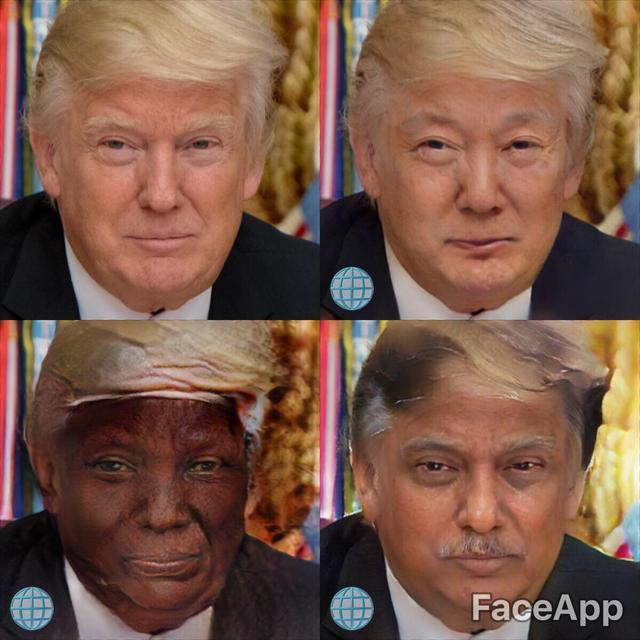 画像2: 様々な人種になれるフィルターを追加したところ…