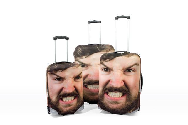 画像2: 自分の顔がプリントされたスーツケース