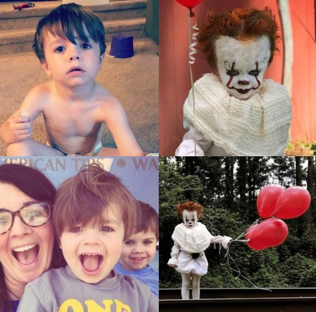 画像6: 3歳の男の子がピエロに変身