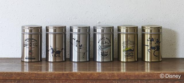 画像1: レトロでおしゃれ!Disneyのアンティーク缶風ステンレスボトルが登場