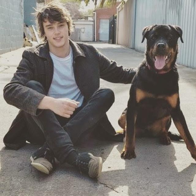 画像: 犬好きのミッチェル。愛犬のハーヴィが大親友。