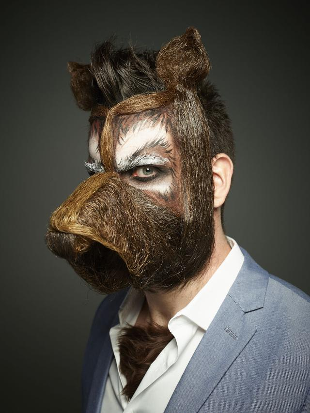 画像: 犬マスクひげ