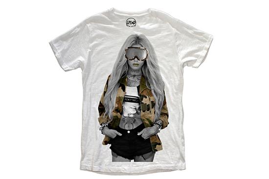 画像: SPEND / Tシャツ / MODEL SNOW 9,000円(税込9,720円)