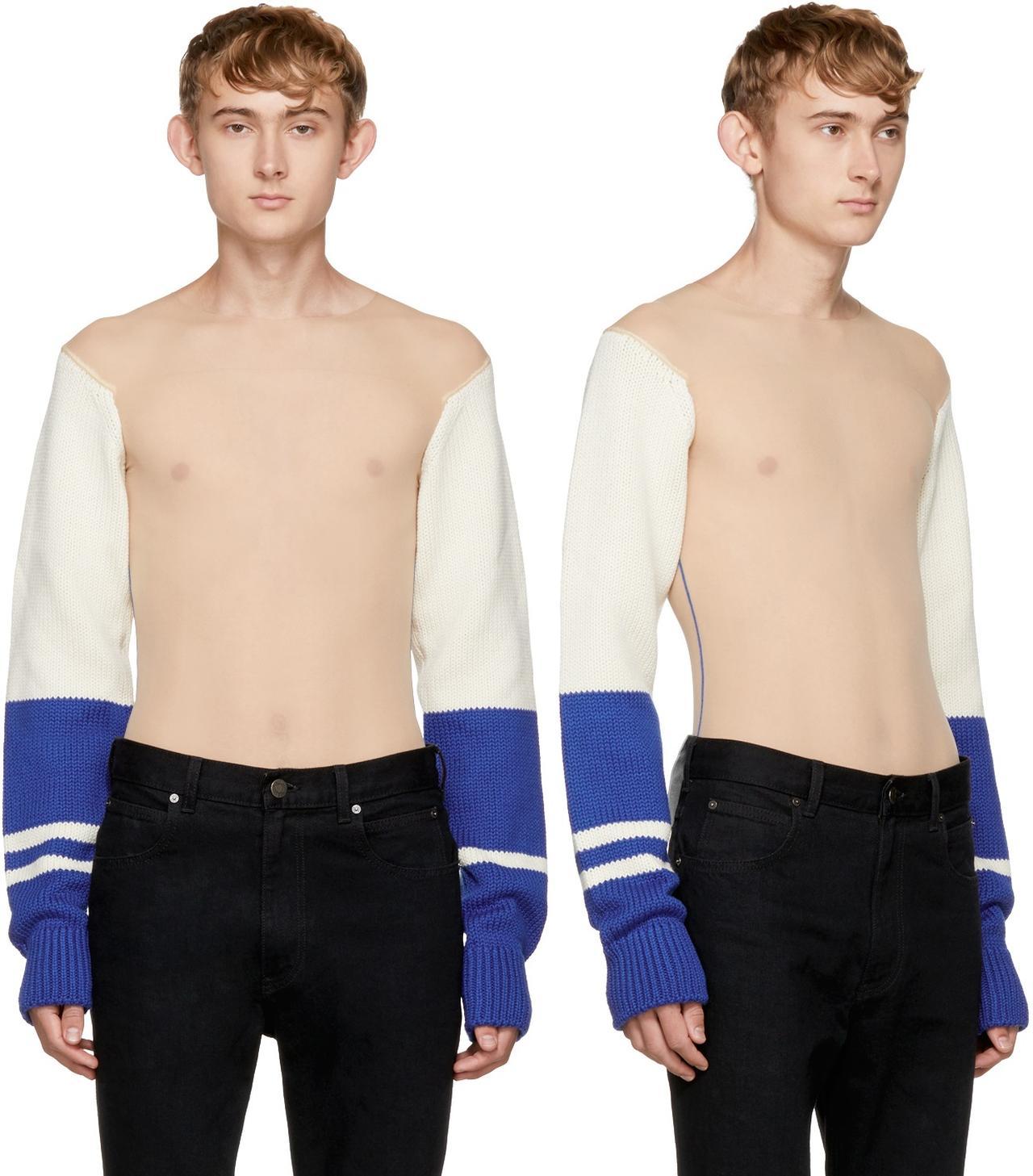 画像1: 乳首丸見え!上半身完全シースルーの23万円セーターが完売