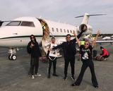 画像: ニューヨークからロサンゼルスへの帰りの様子。
