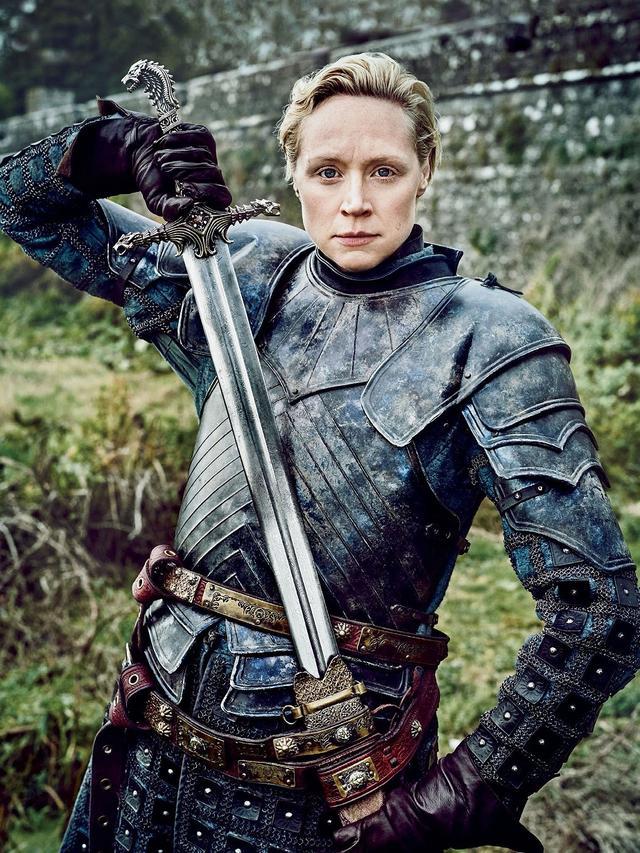 画像: グウェンドリンが演じる女騎士ブライエニー。