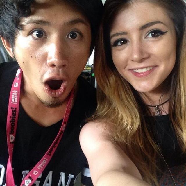 画像: クリッシーとONE OK ROCKのTaka。