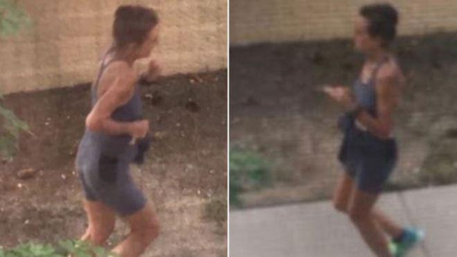 画像: 防犯カメラにとらえられた女性の姿。