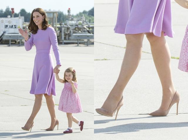画像: 子供連れでも10cm近いピンヒールを着用。