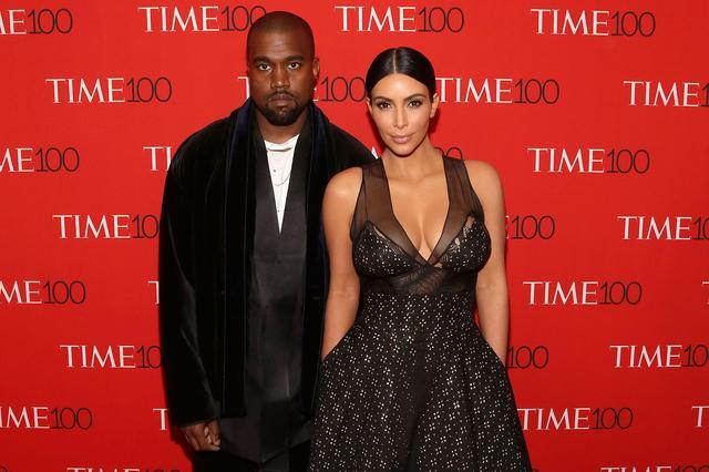 画像: キム&カニエ夫妻。