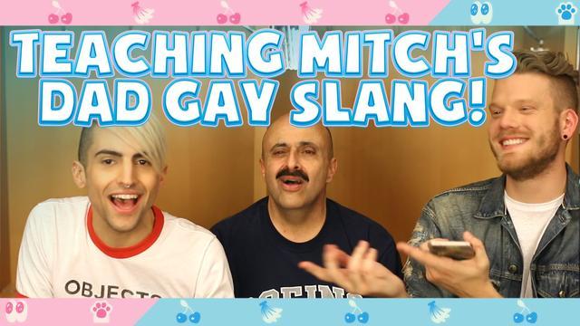 画像: YouTubeでミッチのお父さんにゲイ・スラングを教える企画を公開。 youtu.be