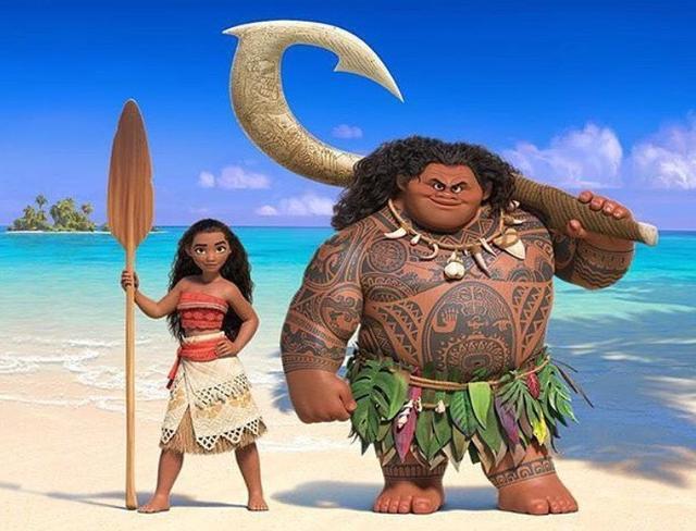 画像: 物語の主人公のモアナ(左)とマウイ(右)。©The Disney Moana/Instagram
