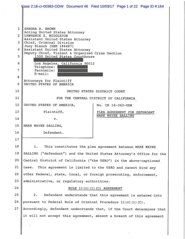 画像: 起訴状の一部