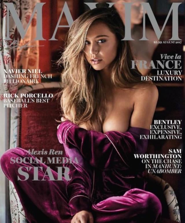 画像: Maxim誌の表紙を飾ったのも、アレクシスのキャリアにとって大きな出来事だった。