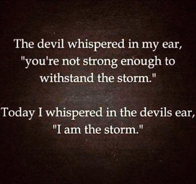 画像: 「悪魔が私の耳に囁いた『お前は嵐に耐えられるほど強くはない』と。今日、私は悪魔の耳に囁いた『私こそが嵐だ』と」という格言を添えて。©Cara Delevingne/ Instagram