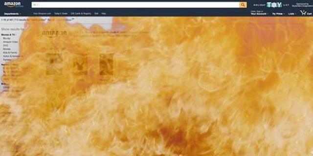 画像: 炎で画面がいっぱいに。