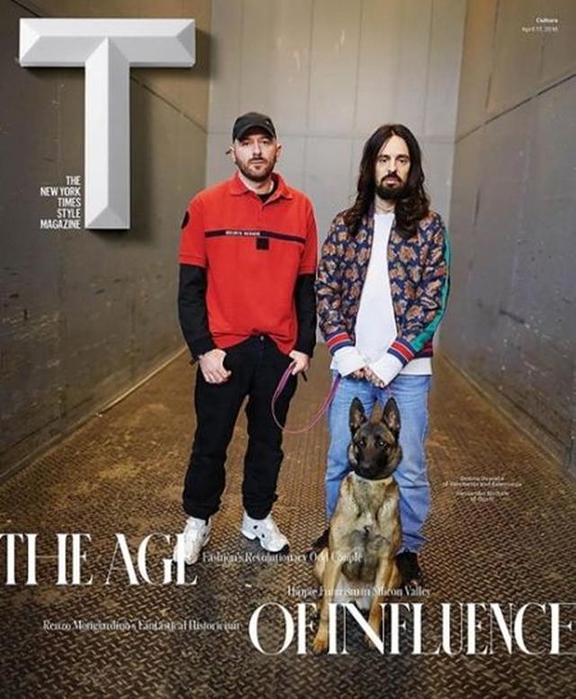 画像: 左からデムナとGucciの新デザイナーのアレキサンドロ・ミケーレ。