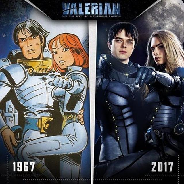 画像: 原作漫画『ヴァレリアンとローレリーヌ』と、映画版の主人公を比較した画像。