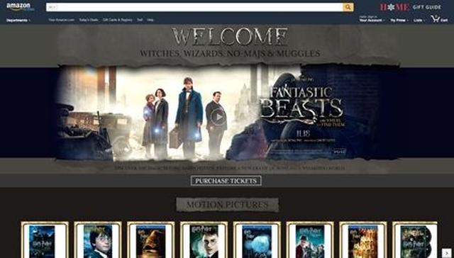 画像: 魔法のあとに表示される、『ファンタスティック・ビーストと魔法使いの旅』特設サイト。